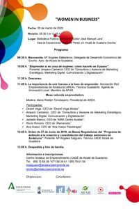 Jornada `Women in Business´organizada por el CADE de Alcalá